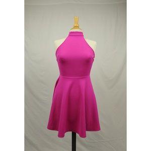 Minkpink XS Hot Pink Halter Top Dress